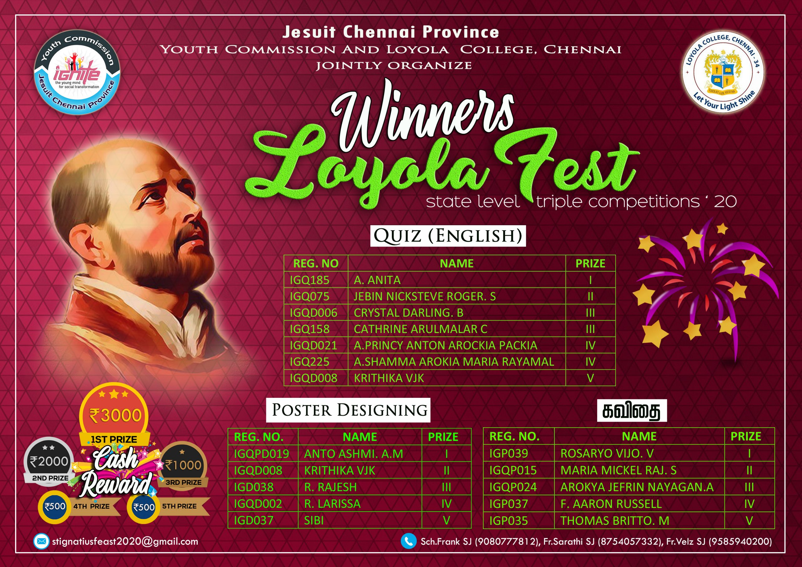 Loyola fest - State level competitions 2020